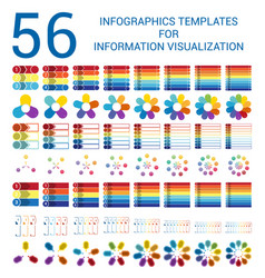 Set infographic templates for informations vector