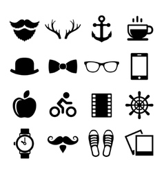 Set of Vintage Hipster Icons and Logos vector image vector image
