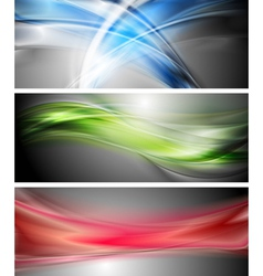 Shiny wavy banners vector image vector image