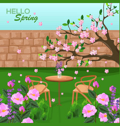 spring is coming backgrounds romantic vector image