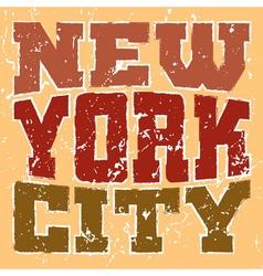 T shirt typography New York red orange vector image vector image