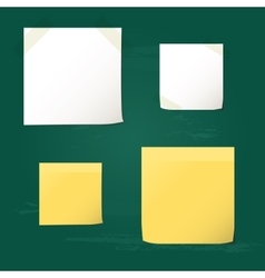 White and yellow folded paper set collections vector image