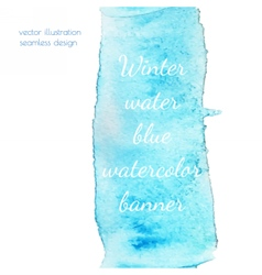 Winter water watercolor vector image vector image