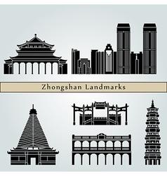 Zhongshan landmarks and monuments vector image