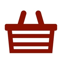 Shopping basket store icon vector