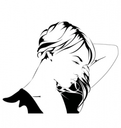 young woman silhouette vector image
