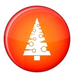 Christmas tree icon flat style vector