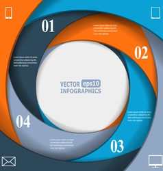 Modern business infographics vector