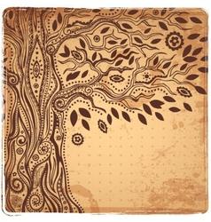 Unique ethnic tree of life vector image