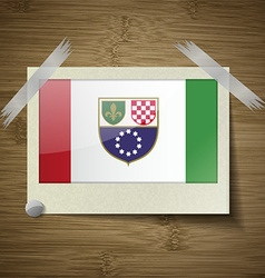 Flags bosnia and herzegovina federation at frame vector