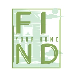 Find your home vector