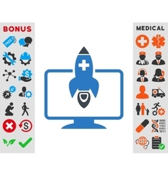 Medical startup icon vector