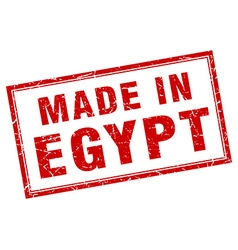 Egypt red square grunge made in stamp vector