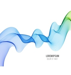 Abstract blue color wave design element Blue and vector image vector image