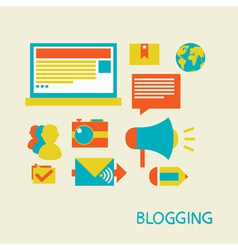 Blogging and commenting vector