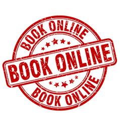 Book online stamp vector