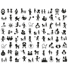 children family icon on white vector image