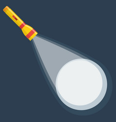 flashlight icon on night background vector image