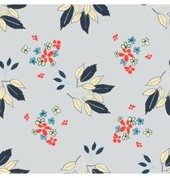 Floral leaf pattern vector