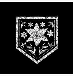 Floral logo 09 grunge vector