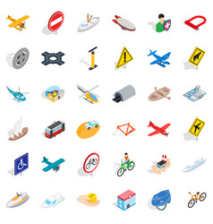 Great transport icons set isometric style vector