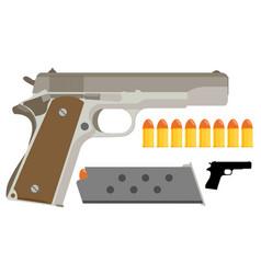 Gun icon flat vector