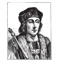 Henry vii of england vintage vector