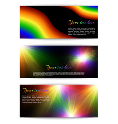 Horizontal multicolored banners vector