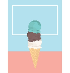 Icecream badge frozen sweets and cold summer vector image vector image