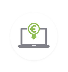 internet banking payments icon pictogram vector image vector image