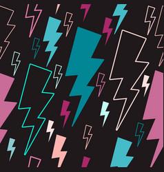 Lightning seamless pattern colored lightning vector