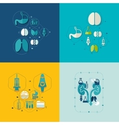 Medical flat infographic vector