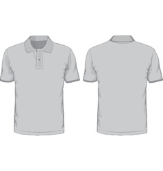 Mens polo-shirts template Front and back views vector image