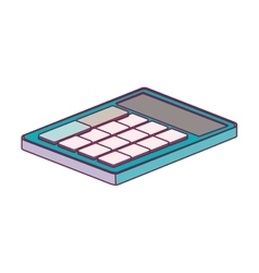 Office color calculator lying down minimalist vector