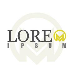 round letter m logo vector image