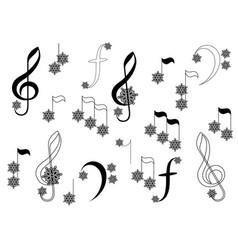 Snowflake notes vector