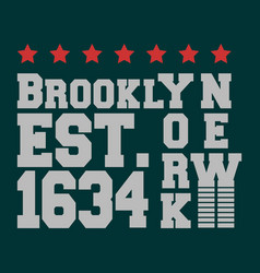 T-shirt print design brooklyn new york vector