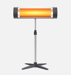 The quartz halogen heater with the glowing lamp vector