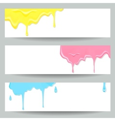 Three colorful paint banners vector image