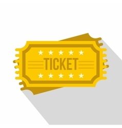 Ticket icon flat style vector