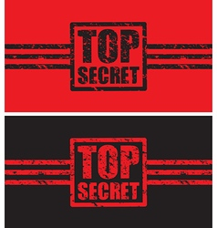 top secret black and red vector image