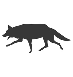 Wolf running silhouette icon vector