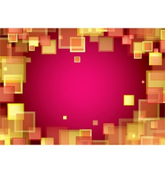 Square warm frame vector