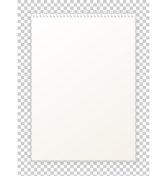Blank empty album notepad format a4 for drawing vector