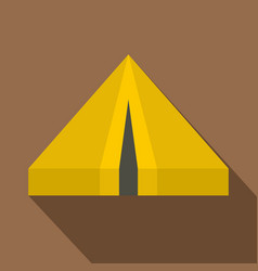 Camping tent icon flat style vector