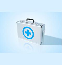 Closed metal medical bag vector