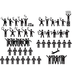 People holding party messages vector