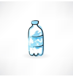 Bottle of water grunge icon vector