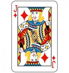 jack of diamonds vector image