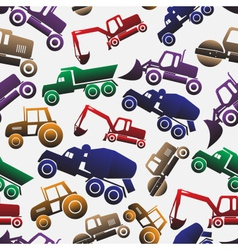 Color heavy machinery cars seamless pattern eps10 vector